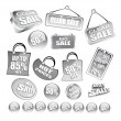 Royalty-Free Stock Vector Image: Sent of Price Tag Icons