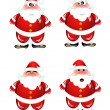 Funny Santa humor set — Stock Vector