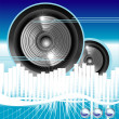 Постер, плакат: Music equalizer background