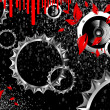 Royalty-Free Stock Imagem Vetorial: Techno party with gears and black background