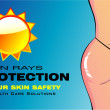 Naked Woman Skin Protection - Image vectorielle