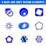 Set of 9 design elements — Stock Vector #23283586