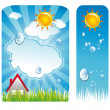 Royalty-Free Stock Vector Image: Weather Delicate Backgrounds