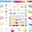 Collection of full colours web elements with glossy effect — Stock Vector #23283842