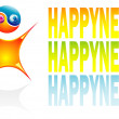 Vector Ying Yang boy Happyness — Stock Vector