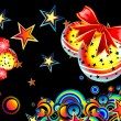 Colorful Christmas background — Stock Vector