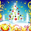 Royalty-Free Stock Vektorgrafik: Christmas tree background