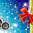 Music emotions christmas background - Stock Vector