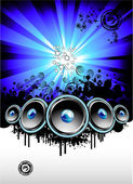 Disco Music Event Background — Stock Vector