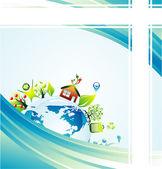 Environmetal concept Background — Stock Vector