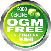 OGM free food emblem — Stock Vector