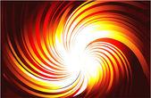 Burning Light Rays — Stock Vector
