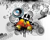 Street style rapper — Stock Vector
