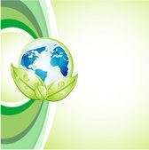 认为绿色背景 — 图库矢量图片