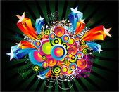 ファンタジー円と星空の背景 — ストックベクタ
