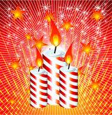 Christmas Candles — Stock Vector