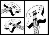 Guitar shape — Stock Vector