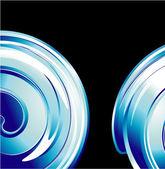 Tarjeta espiral abstracto — Vector de stock