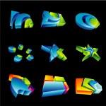 3D Design Elements — Stock Vector #23290262