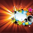 Colorful Lights and Music Background — 图库矢量图片 #23290068