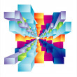 Stockvector : Abstract Cubic deep well