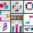 Infographic design template big set! — Stock Vector #23290266