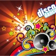Vector de stock : Colorful Lights and Music Background