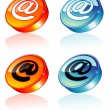 3D email Icon - Stock Vector