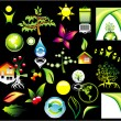 Environment ans recycle Icon set — Image vectorielle
