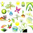 Environment ans recycle Icon set — Stock Vector