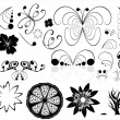 Flower design elements - Stock Vector