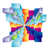 Abstract Cubic deep well — Stock Vector