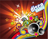 Colorful Lights and Music Background — Stock Vector