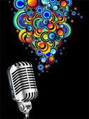 Magic retro microphone — Stock Vector