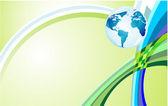 Tror grön bakgrund — Stockvektor