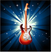 Electric Guitar Background — Stock Vector
