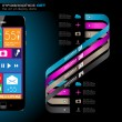 Royalty-Free Stock : Modern Infographic with a touch screen smartphone