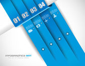 Infographik entwurfsvorlage mit papier-tags — Stockvektor