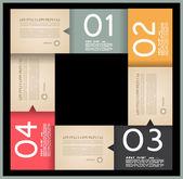 Infographic ontwerpsjabloon met papier tags. — Stockvector