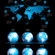 Infographic layout template with world maps. — Vektorgrafik