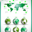 Infographic layout template with world maps. — Stock Vector