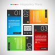 Infographic design template with paper tags. - Stock Vector