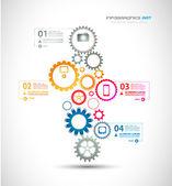 Infographic formgivningsmall med redskap kedja. — Stockvektor