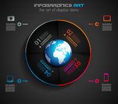 Plantilla de diseño infográfico con etiquetas de papel — Vector de stock