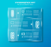 Infographic design template with glass surfaces. — Stock Vector