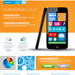 Website template for corporate business and cloud purposes. — Stock Vector