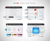 Web painel loja de preço com espaço para o texto e comprar agora botão. — Vetorial Stock