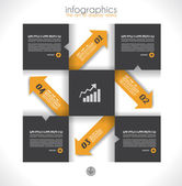 Infographic design template with paper tags. — Stock Vector