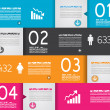 Infographic design template with paper tags. — Vetorial Stock