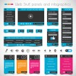 Web Design Stuff, Panels and infographics — Stock Vector